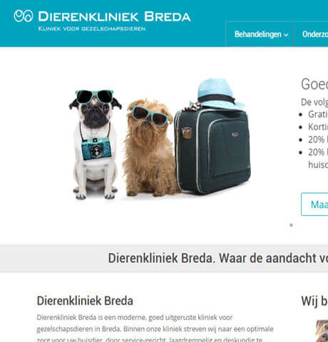 website Dierenkliniek Breda