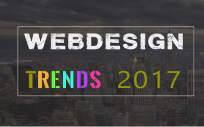Top 5 Webdesign trends 2017