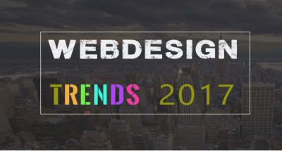 Top 5 Webdesign trends 2017
