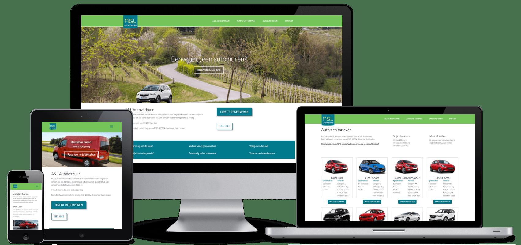 website voor ALautoverhuur