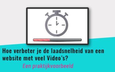 Hoe verbeter je de laadsnelheid van een website met veel video's